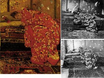 Meisje in rode kimono (Geesje Kwak): girl in a red kimono