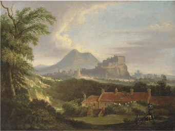 View of Edinburgh, with the Ca