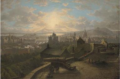 An extensive view of Edinburgh