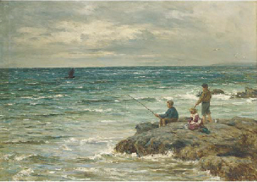 Fishing from the rocks