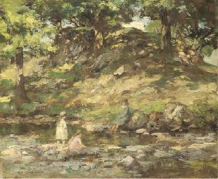 Children in a glen