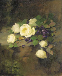 White Roses and Violets