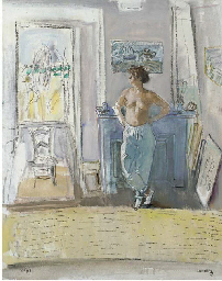 Young girl in an interior