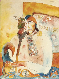The Artist holds the Bird of P