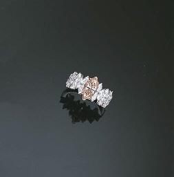 AN ORANGY BROWNISH PINK DIAMON
