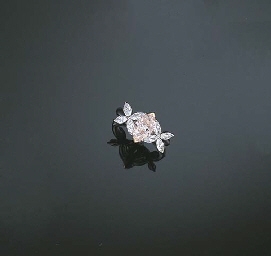 A LIGHT PINK DIAMOND AND DIAMO