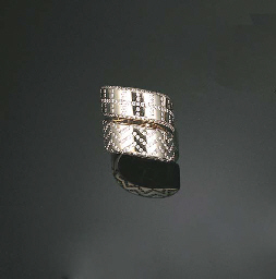 AN 18K WHITE GOLD AND DIAMOND