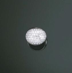 A ROCK CRYSTAL AND DIAMOND
