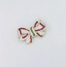 A DIAMOND, RUBY AND EMERALD PE
