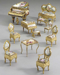 A collection of Viennese gilt-