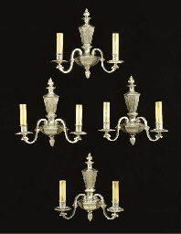 A set of four Baroque style si
