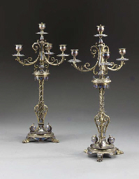 A pair of Victorian 'Pompeian'