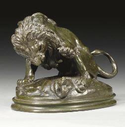 Lion au serpent No3, esquisse