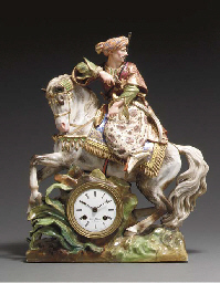 A JACOB PETIT MANTLE CLOCK (PE