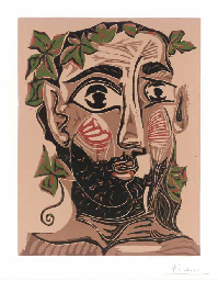 Bearded Man, Crowned with Gree