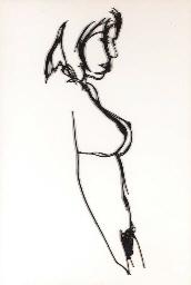 Steel Drawing Standing Nude