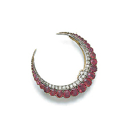 A late 19th century, gold ruby