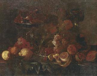 Grapes, lemons, pomegranates,