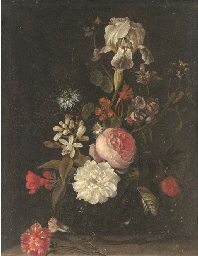 Carnations, narcissi, roses, a