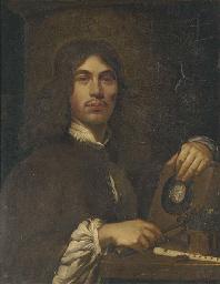 Portrait of an artist, standin