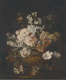Chrysanthemums, peonies, narci