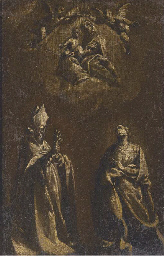 The Virgin and Child appearing