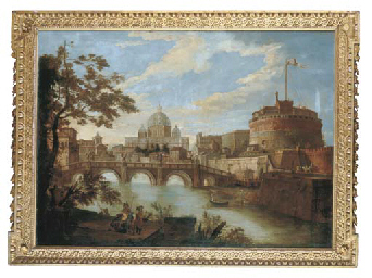 The Tiber, Rome, looking downs