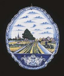 A Makkum Delftware polychrome