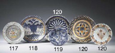 Three various Haarlem maiolica