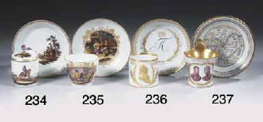 A Meissen porcelain gilt royal