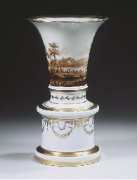 A Fürstenberg porcelain beaker