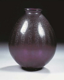 Serica 6, a purple glass vase