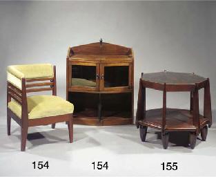 A mahogany tea cabinet