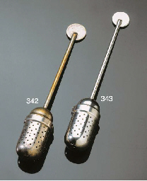 An electroplated brass tea inf