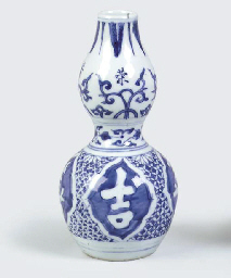 A LATE MING BLUE AND WHITE SMA