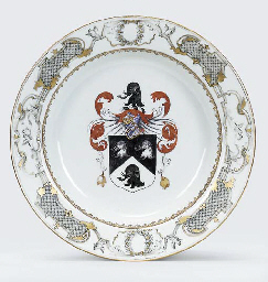 AN EXPORT ARMORIAL SOUP-PLATE
