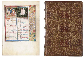 BOOK OF HOURS, use of Rouen, in Latin and French, ILLUMINATED MANUSCRIPT ON...