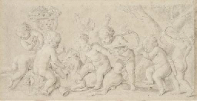 Putti at a Bacchanal