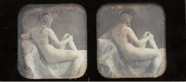 Female nude with headdress