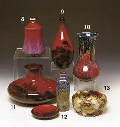A FLAMBE VASE, BY BERNARD MOOR