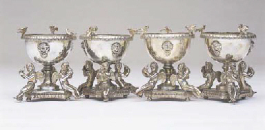 A SET OF FOUR VICTORIAN STERLI