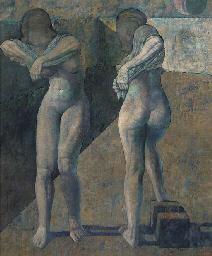 Dos mujeres desvistiéndose
