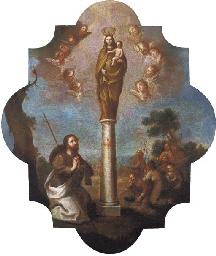 Apostol Santiago adorando a la