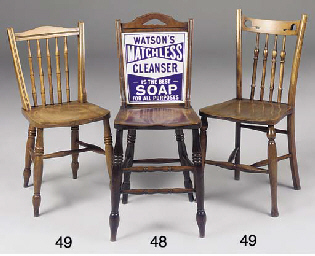 A SET OF THREE BIRCH CHAIRS