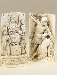 A French relief carved ivory p