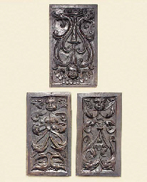 A group of three French relief