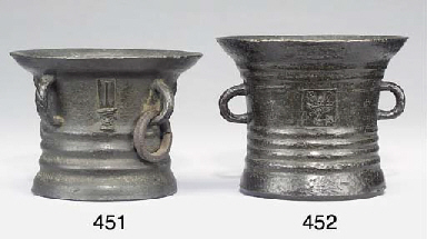 A Nottingham bronze mortar