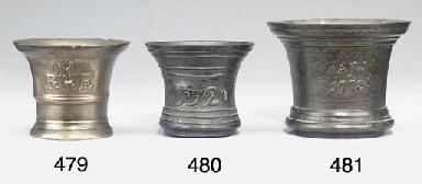A George II bronze mortar