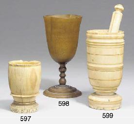 An ivory mortar