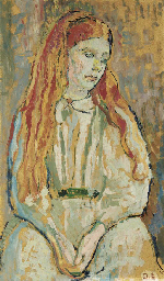 Portrait of a seated girl